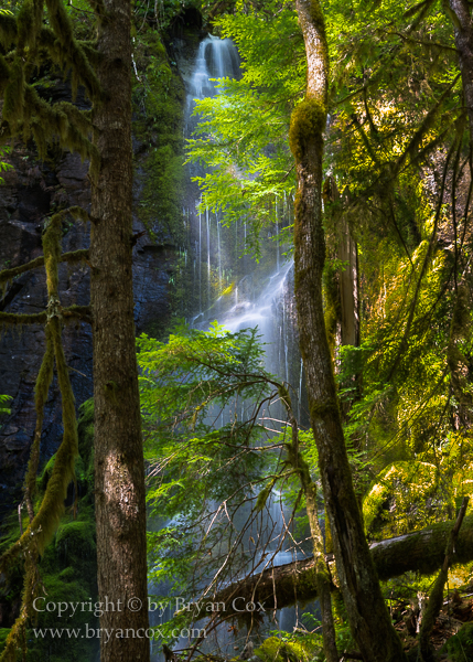 Image of Unnamed seasonal waterfall