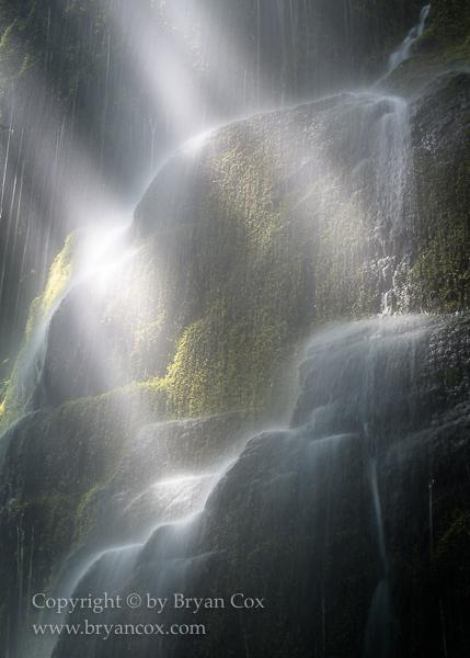 Image of Detail of a seasonal waterfall