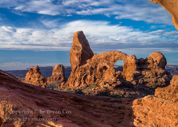 Image of Turret Arch seen through North Window